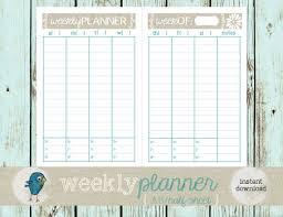 Vertical Weekly Calendar Printable Weekly Vertical Planner Download Them Or Print
