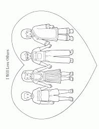 Small Picture Lds Coloring Pages Love One Another Coloring Home