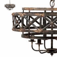 Kasteellamp Ronde Industriele Zwarte Kasteellamp Hanglamp Boven