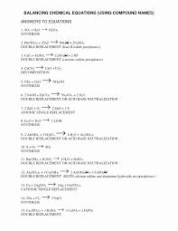 balancing chemical equations worksheet unique writing chemical equations worksheet answer key worksheet writing