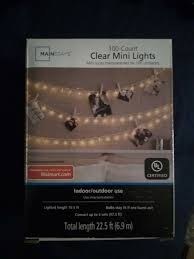 100 Count Clear Mini Lights Mainstays 100 Clear Mini Lights Christmas Wedding Tree Fairy String Outdoor Lot Of 4