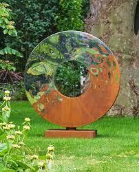 metal garden sculpture metal