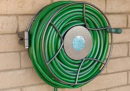 mounted hose reel garden hoses easily with this wall mounted swivel reel wall mounted hose