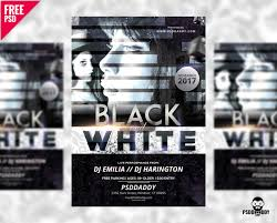 Club Flyer Templates Free Download Black And White Club Flyer Free Psd Psddaddy Com