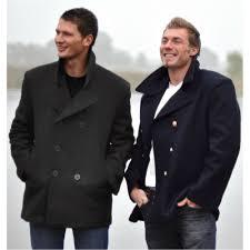 sentinel vintage style us navy pea coat mens jacket classic army reefer coat black s 5xl