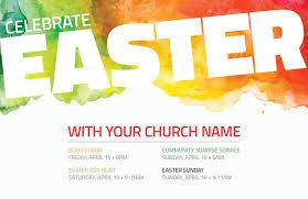 Celebrate Easter Events Invitecard Church Invitations