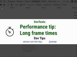 devtools performance easily identify long frame times