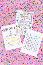 free childrens birthday cards free printable birthday cards for kids studio diy