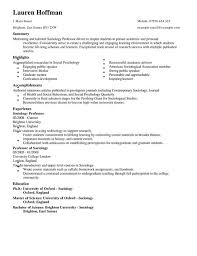Amazing Sociology Resume Gallery - Simple resume Office Templates .