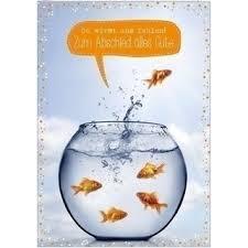 A4 Xxl Abschiedskarte Du Wirst Uns Fehlen Goldfischglas