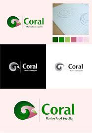 Supplier Design Coral Logo For Marine Food Supplier Logos Design Coral