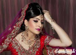 best beauty parlours for bridal makup real bride modern traditional asian bridal makeup red glittery smokey eyes by makeup