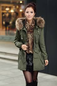 coat parka jacket green black winter coat winter outfits style fashion long coat fur warm chic military style wheretoget