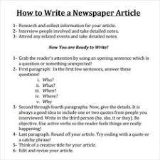how to start a school newspaper school newspaper newspaper and write a newspaper article
