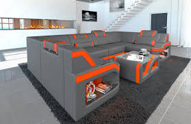 Leather Sectional Sofa Manhattan U