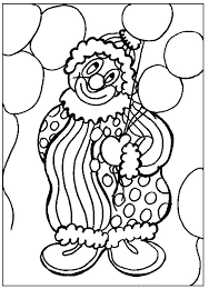 Small Picture Play Balloon Clown Coloring Pages 30666 Bestofcoloringcom