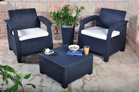 keter corfu 2 seater balcony set plastic rattan garden furniture c free deliver
