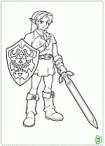 The Legend Of Zelda Coloring Pages Dinokidsorg