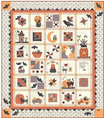 Spooky Halloween - Block of the Month - Patterns & Spooky Halloween Row of the Month Quilt Adamdwight.com