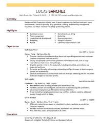 Fast Food Restaurant Manager Resume Fast Food Management Resume Magdalene Project Org