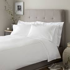 white bed sheets. Double Row Cord Bed Linen Set - White Sheets H