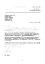 Bistrun Awesome Collection Of Sample Cover Letter Internship