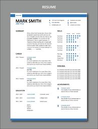 Modern Resume Template 1 Stylish Resume Design Set Of Formats