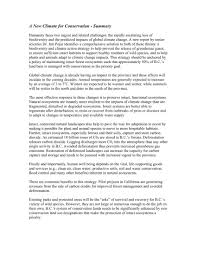 Executive Summary Executive Summary A New Climate For Conservation Nature