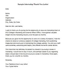 Thank You Letter For Internship Offer Cover Letter Example