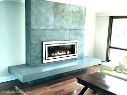doe cot concrete fireplace mantel ideas