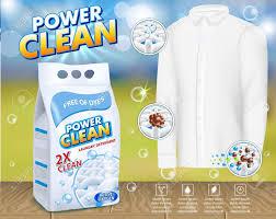 Detergent Powder Packaging Design Psd Laundry Detergent Powder Clipart