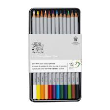 Winsor Newton Studio Collection Coloured Pencils Assorted Tin Of 12