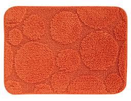 lushhomes ultra soft rust orange antislip bathmat cotton shower runner rug b01j82tsik