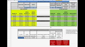 Sales Or Retail Calculate Gross Margin Markup Profit Calculator Spreadsheet Excel