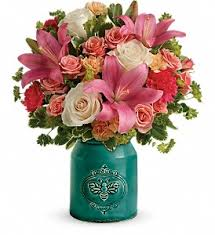 teleflora s country skies bouquet in oklahoma city ok cheever s flowers