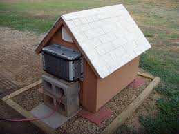 air conditioning dog house. dog house with ac air conditioning d