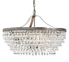 round chandeliers clarissa crystal drop chandelier pottery barn