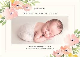 newborn baby announcement sample baby girl birth announcements photo and no photo announcements