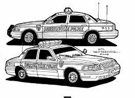 Voiture De Police 11 Transport Coloriages Imprimer