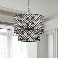 8 light double round crystal chandelier antique bronze