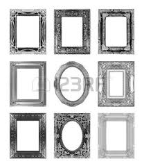 silver antique picture frames. Silver Antique Vintage Picture Frames. Isolated On White Background Photo Frames