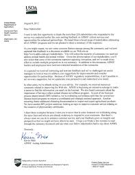 Usda Open Letter And Stakeholder Summary The Scoop