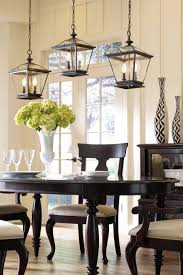 Kitchen Lights Over Table Grouped Lanterns Above A Dining Room Table Add A Contemporary