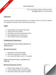 Mechanical Engineering Resume Examples Stunning Mechanical Engineering Technologist Resume Sample Mechanical