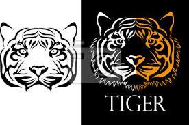 Nálepka Tetování Tygr Logotyp