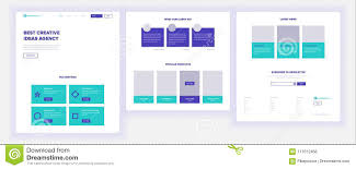 Design And Technology Online Website Template Vector Page Business Background Shopping