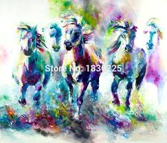 colorful horse paintings horse pictures animals oil painting deer wall art picture horse painting horse head oil painting oil on canvas paintings in
