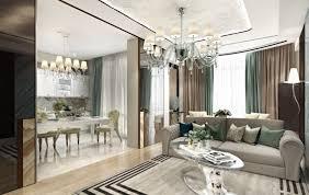 art deco living room design and