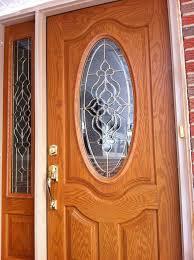 front door window treatmentsRecently had a new FeatherRiver Fiberglass door installed by