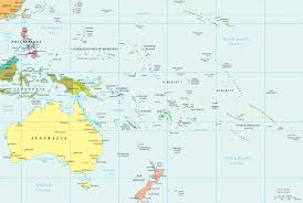 political map of oceania  pacific islands
